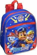 """Nickelodeon Paw Patrol Boy's 10"""" Mini Backpack Blue Book Bag With 3D Artworks"""