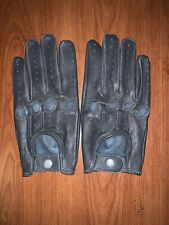 Men's Driving Gray leather Gloves  Size Small