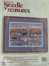 Needle Treasures Needlepoint Kit Autumn Sails #06602 Brand New in Pkg