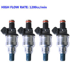4x Fuel Injector 1200cc for Modify Honda Precision K20 K24 B16 B18 D18 EG EF EK