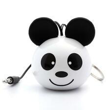 Mini Enceinte Portable Panda Speaker Câble AUX pour Android iOS 2W