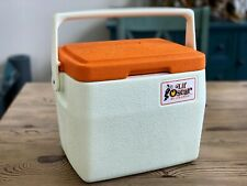 Vintage Coleman Lil Oscar Cooler Ice Chest Lunch Box 5272 Orange w/ Can Holders