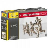 HELLER 1/72 WWII British 8th Army 50 Plastic Soldiers AIRFIX REISSUE FREE SHIP