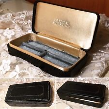 Antique Victorian LARTER Leather Hard Case Elegant Jewelry Presentation Box