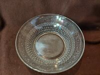 """Bowl Vintage Inspired Hobnail Cut Clear Glass Serving Beautiful 8.5"""" x 2.75"""""""