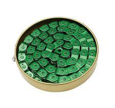 """Gusset Slink chaîne 3/32"""", 1/2"""" x 3/32"""" 102L, fendue coudé liens-vert"""