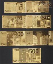 Euro Gold Banknote Set 500 Euro 5 Euro Geldschein Schein Note Goldfolie Karat a