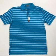 Peter Millar Crown Sport Polo Shirt Mens Medium NWT Sky Blue Teal