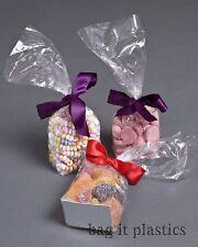 CELLOPHANE CLEAR BLOCK BOTTOM + CARD BASE CELLO SWEET CANDY BAGS BAG FOOD SAFE