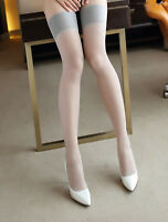 Women Sexy Thigh High Wide Lace Top Sheer Stockings Pantyhose Tights hoisery