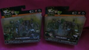 Lot of 2 CN Ben 10 Wildvine & Benwolf and Ben & Alien X miniature figurines