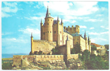 Pan Am Spain Postcard - Vintage 1960's Pan American Airlines Alcazar Castle Card