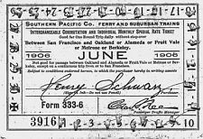 SOUTHERN PACIFIC W/ FERRY RAILROAD RR RAILWAY RY RWY 1906 FRUIT VALE