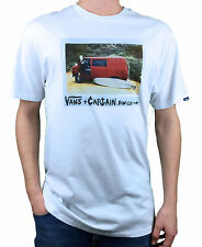 VANS. Captain Fins. Original Design. White Mens T-Shirt. Size: S, M, L, X-L.