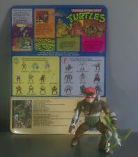 Rare 1989 Vintage Teenage Mutant Hero Turtles  RAT KING Figure with backing