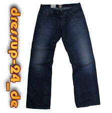 Hugo Boss Jeans W33 L36 Bo1 blau Denim Baumwolle regular fit orange Label  Neu !