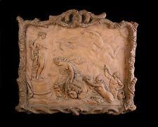 Important bas relief 14 kg Mathurin MOREAU Scène mythologique Athéna Héra lions