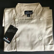 Chef Coat Jacket Long Sleeve (Size: Small Color: Sand) Made in Mexico Bnwt