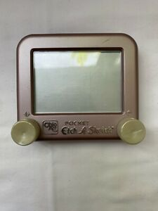 Vintage Travel Etch A Sketch Pocket Size RARE COLOR by Ohio Art Toy WORKING