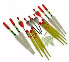 Lure King set 15 various size fishing floats large, medium sizes & float rubbers