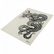 Cool Black Men Removable Dragon Waterproof Temporary Tattoo Sticker