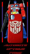 Transformer Autobot Optimus Prime Red and White3D Texture Shockproof Protective