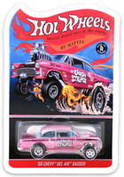MAGNET Hot Wheels 1955 Chevy Bel Air Gasser The Candy Striper MAGNET for Fridge