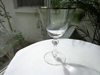 Tiffin Franciscan Wind Song Clear Crystal Wine Glass 1967 - 1976 Platinum Rim