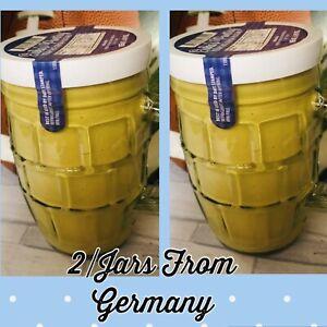 2/ Jars Erika's Pantry German Mustard  8.99oz Mustard From Germany Medium Hot