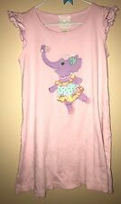 Lemon Loves Lime Boutique Pink Dancing Elephant Dress 6 Girls Kids