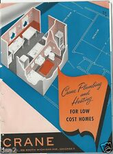 1946 CRANE Plumbing Heating For Builders LOW COST Homes Catalog ASBESTOS History