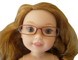 "Brown Plastic Eye Glasses for 14.5"" American Girl WELLIE WISHERS Doll Accessory"