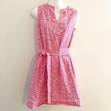 Kayce Hughes Womens Pink White Sleeveless Dress Size 0