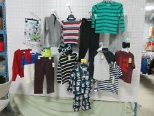 17 BOY CLOTHES TODDLER PANT SHIRTS 4/5 5T BASIC EDITIONS WONDER KIDS SWEATER