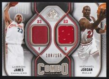 2009-10 Lebron James Michael Jordan UD SP Game Used Combo Materials /165