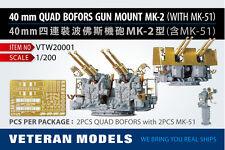 VETERAN 1/200 VTW-20001 40mm QUAD BOFORS GUN MOUNT MK-2 (WITH K-51) x 10 Boxes