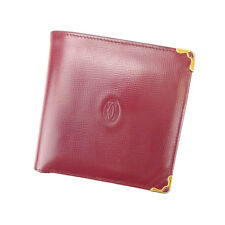 Auth Cartier Folded Wallet Mast Line unisexused J5498