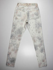 Mulberry womens Size 8 short leg 30L mid rise skinny fit white jeans
