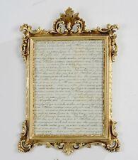 Cadre d'image avec verre de protection baroque or antique 36X24 Cadre Photo c12m