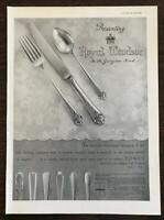 "1936 Towle Silversmiths PRINT AD Royal Windsor Pattern Flatware ""In the Georgian"