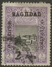 Iraq British Occupation Baghdad 1917 2a on 1pi perf 12½ Used SG11 cat £900 BPA