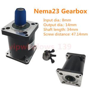 Planetary Gear Head Speed Reducer NEMA23 Gearbox 5 10 15 20 25 30 40 50 100:1
