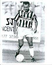 1995 ANGELO DI LIVIO foto originale amichevole Selezione Valle d'Aosta-Juventus