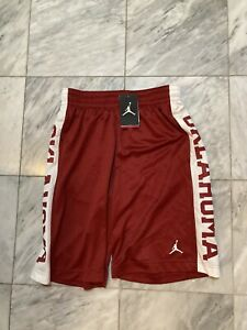 NWT Jordan Brand Nike Dri Fit Shorts Medium OU Sooners Oklahoma