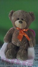 "ANIMAL ADVENTURE Sweet Sprouts Brown TEDDY BEAR Orange Bow Plush 19"" 2014 Target"