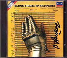 Vladimir ASHKENAZY Signed RICHARD STRAUSS Ein Heldenleben CD Decca 1985