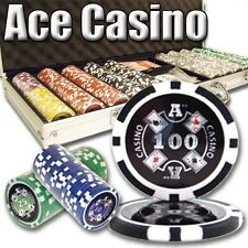 New 500 Ace Casino 14g Clay Poker Chips Set with Aluminum Case - Pick Chips!