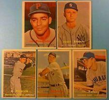 1957 Topps vintage old baseball cards 5-card Lot *Vg-Ex* *Bobby Shantz #272*