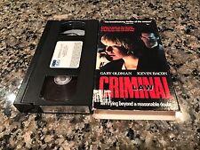 Criminal Law VHS! 1988 Rare HBO Video Thriller! Gary Oldman!