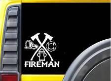 Fireman K327 6 inch decal Maltese cross ax hydrant sticker